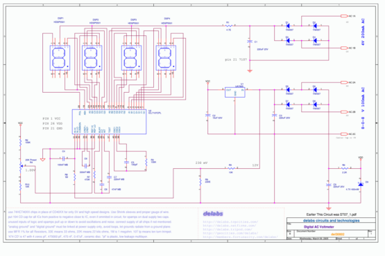 ICL7107 DPM Digital Panel Meter