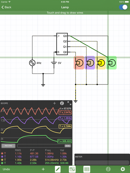 iCircuit is the easy to use electronic circuit simulator and designer