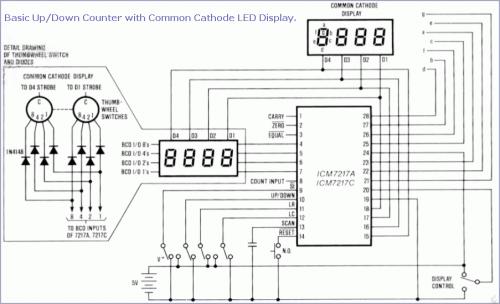 ICM7217 Preset Counter