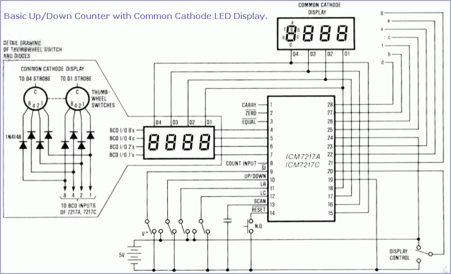 icm7217 preset counter with 4 digits