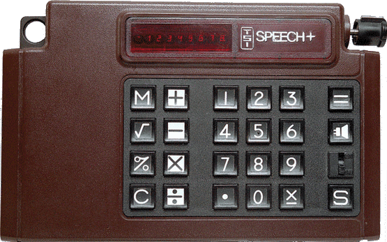 Speech talking calculator by Telesensory Systems