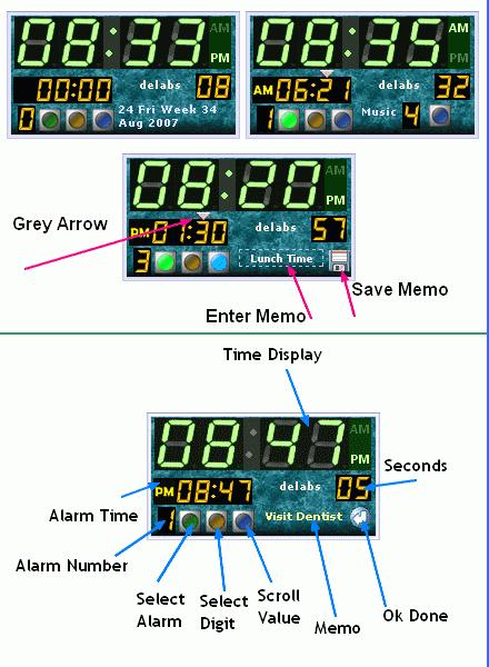 Digital Alarm Clock Gadget
