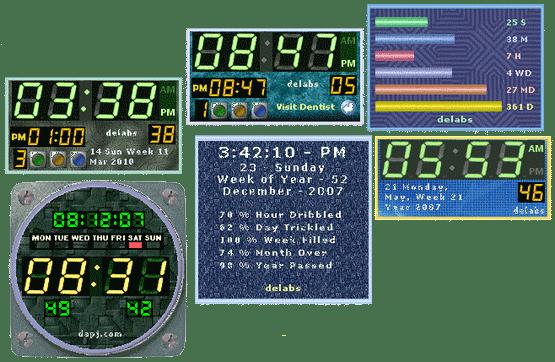 Date Time Clock Widgets
