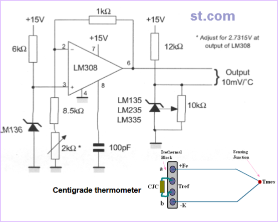 LM335 Cold Junction Compensation